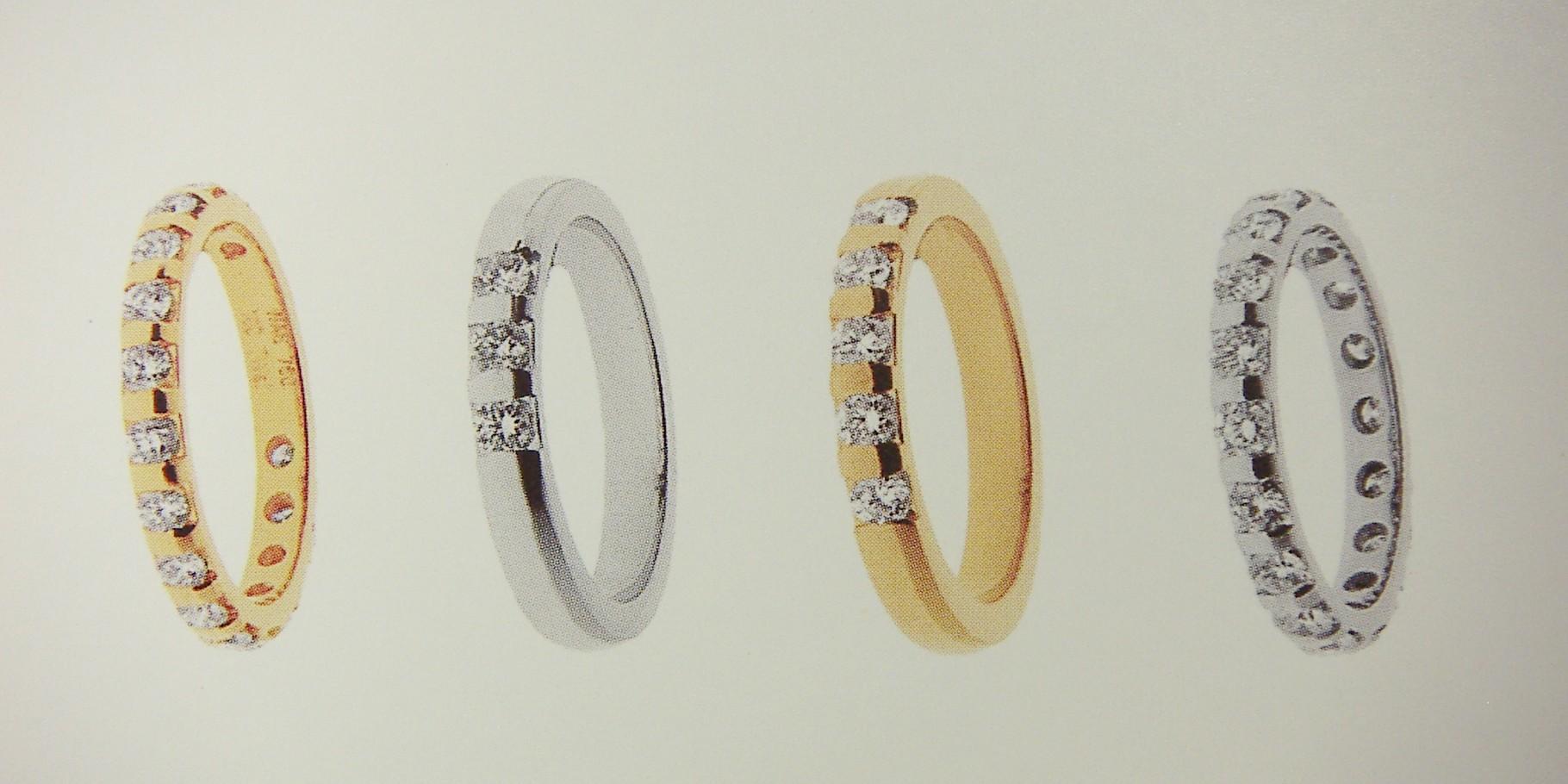 Ring, Gelb- und Weissgold 750, mit Steg-Fassung