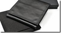 Folder, schwarz Nappa Leder, für reisen oder platzsparende Aufbewahrung