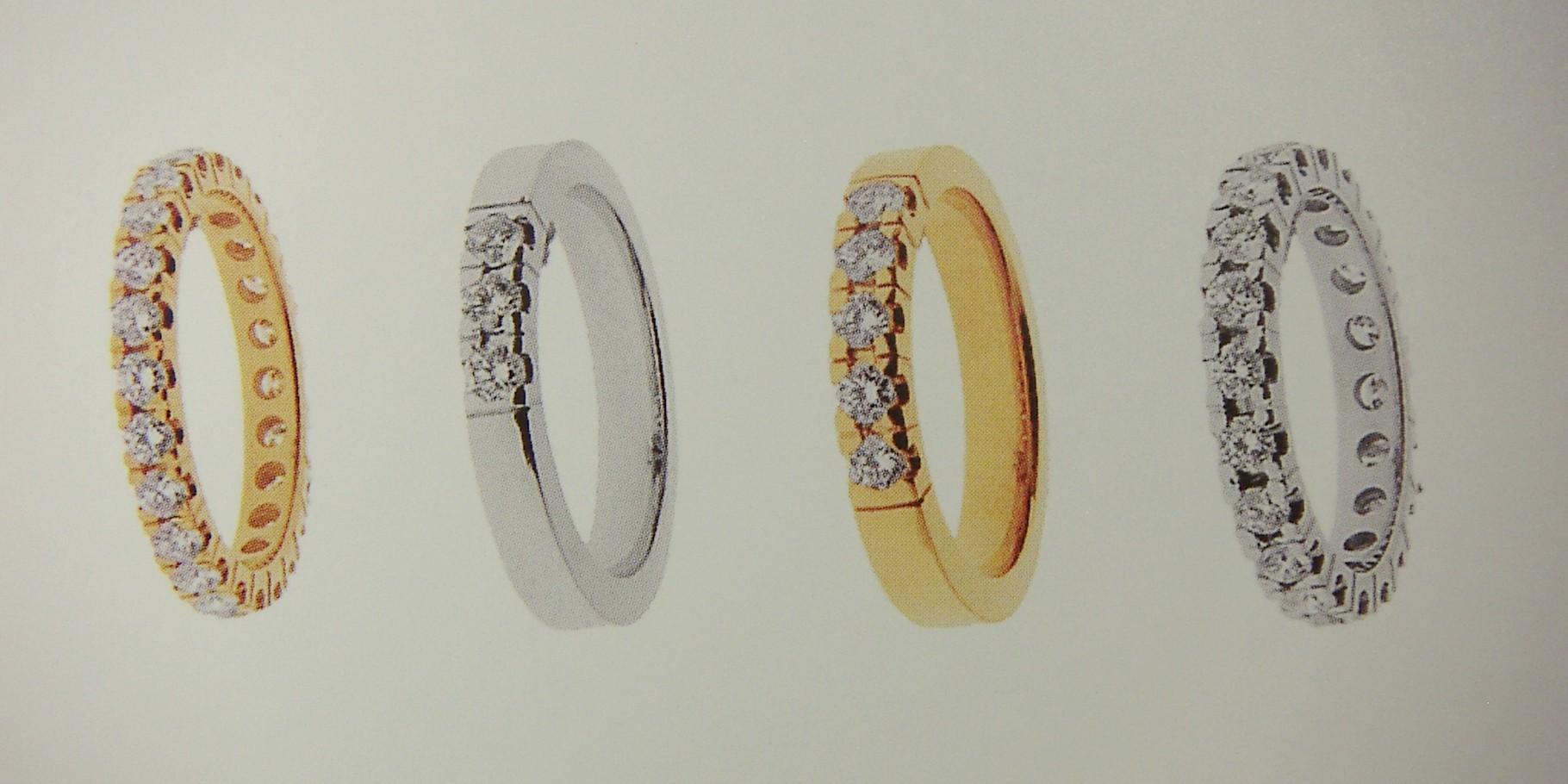 Ring, Gelb- und Weissgold 750, mit Châton-Fassung