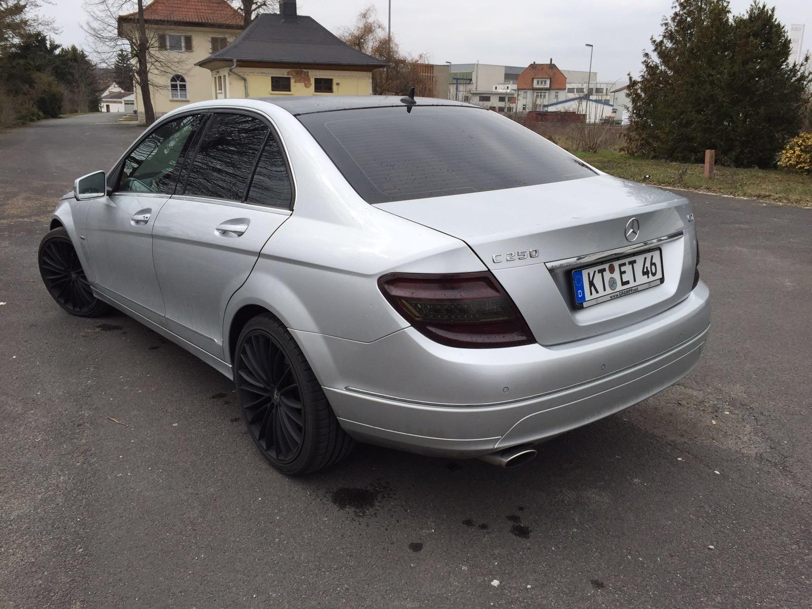 Mercedes W204 Scheibentönung 5%, Dachfolierung und Rückleuchtentönung