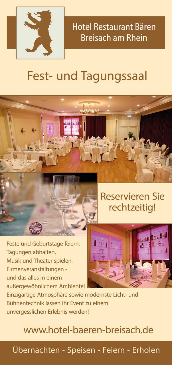 Flyer Gastronomie Hotel Bären