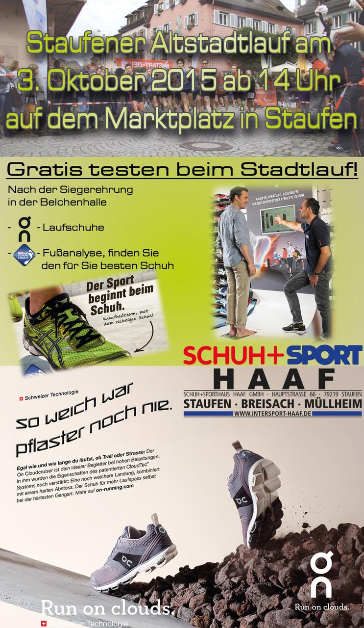 Anzeige Markgräfler Cup - Heft Schuh- und Sporthaus Haaf