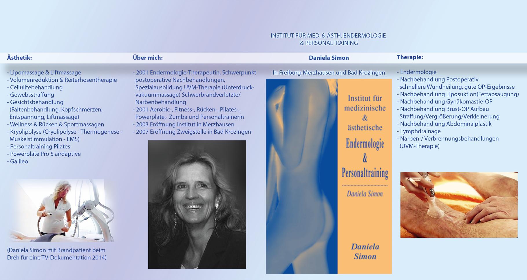 Dreifalz-Flyer Endermologie Institut Daniela Simon Außenansicht