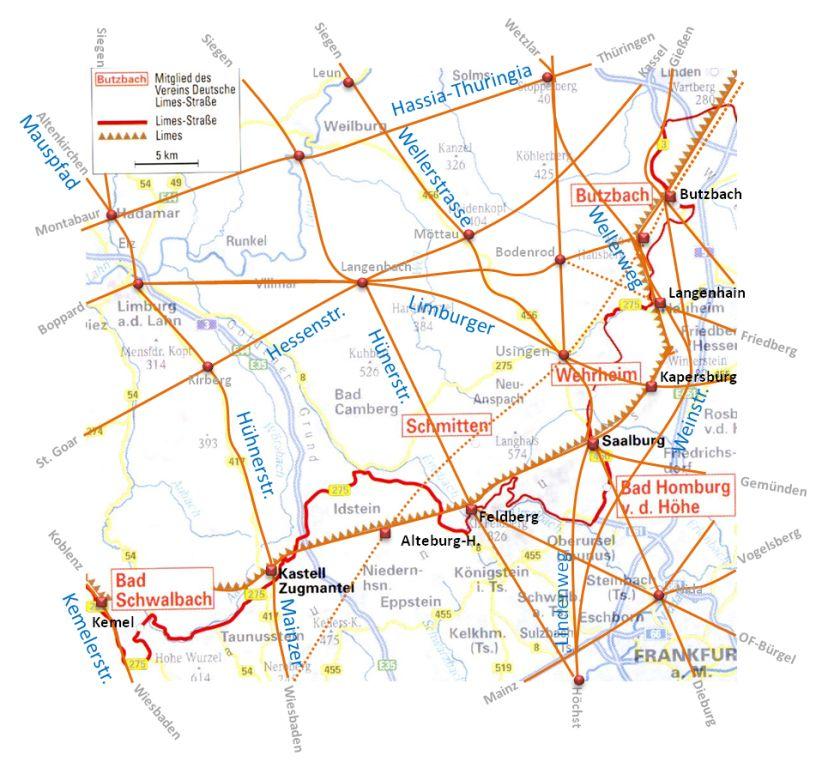 Altwege im Taunus (eigenen Karte)