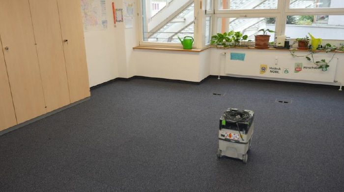 Bodenbelag Büro nachher