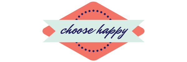 Choose happy - Glass half full