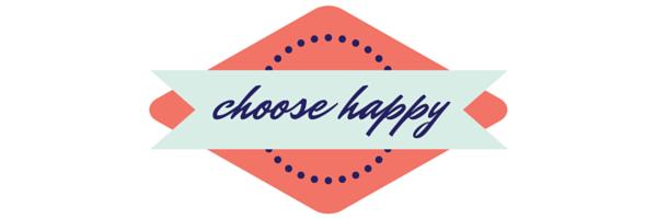 Choose happy - Glass half full