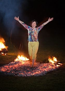 Dr. Kweethai is a Firewalking Instructor