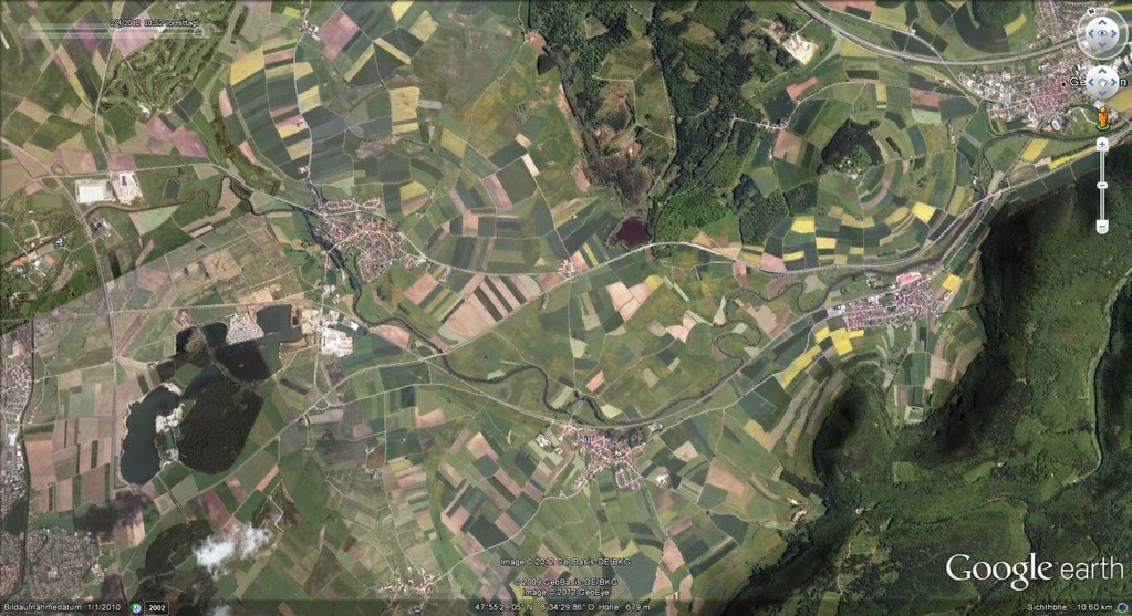 Gesamtübersicht Wasservogelzählung  (Quelle:Google Earth)