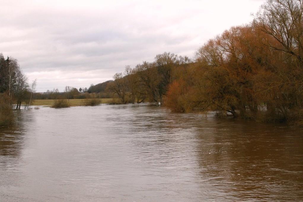 derselbe Blick bei Hochwasser