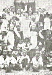 Kinderkönigspaar 1922 Josef Bücker und Gertrud Gockel