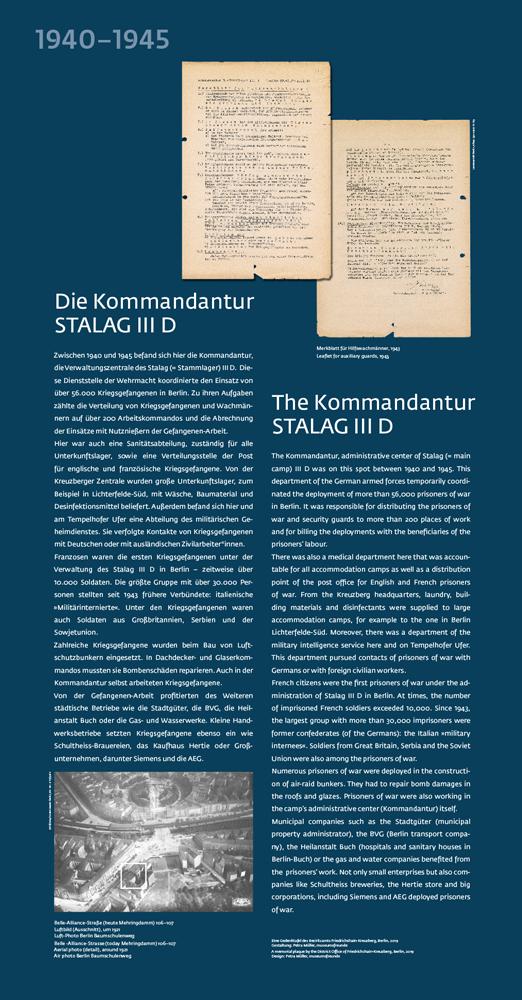 """Die Gedenkstele """"Die Kommandantur STALAG III D"""" am Halleschen Tor"""