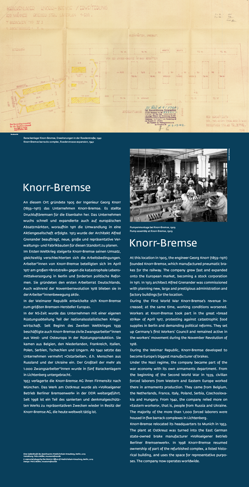 """Die Gedenkstele """"Knorrbremse"""" in Friedrichshain"""