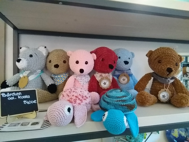 Häkelbären, Fuchs und Schildkröten 29 €