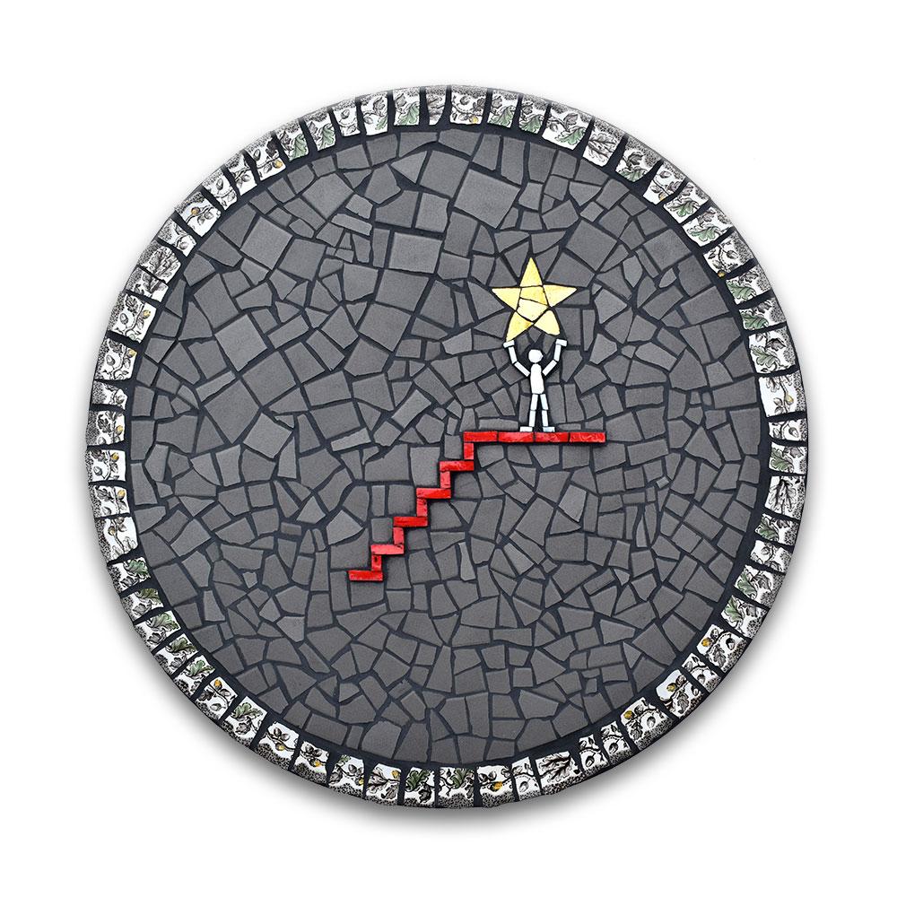 Greif nach den Sternen! (Rund)  #1