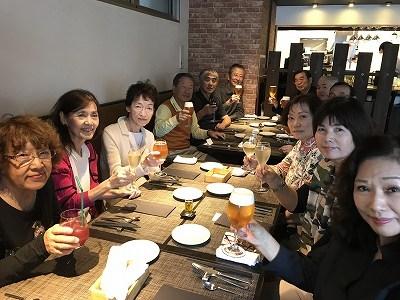 戸塚駅徒歩3分の「ブラッスリーアムール」イタリアンレストランにてランチ会(^^♪ 歩いたので、生ビールが美味しい~(^^♪