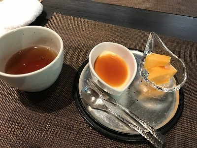 マンゴー&黄な粉プリン、とても美味しかったです。おしゃべりも弾み、楽しいひとときを過ごしました。