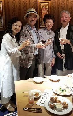 左から2番目の松本さん、いつも粋生倶楽部の応援エールをありがとうございます♪感謝