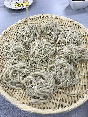 北川先生の打った蕎麦(夏の新蕎麦)(^^♪
