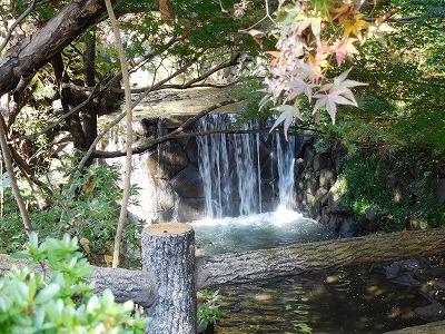 浄水場をぐるりと回り、坂を下れば・・・きれいな「白糸の滝」が(^^♪ここは白根公園の一角。