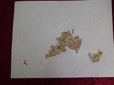 素敵な葡萄が描けました!(^^)!