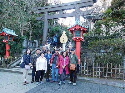 本日の「鎌倉・江の島七福神めぐり」はこれで終了です。何かたくさんの「気」をもらったような気がします(^^♪ありがとうございました!!たくさん「徳」を積みます!(^^)!