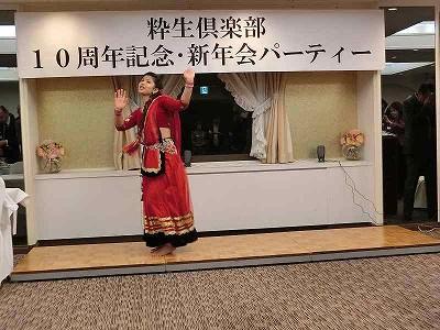 (学)岩谷学園の留学生 ネパールのダンスを披露してくれました(^^♪ 軽快なリズムで踊りながらの歌とステップは皆さんを魅了しました(^^♪
