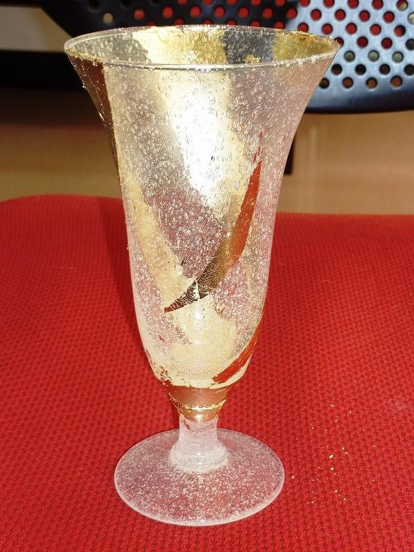 前回のグラスを再加工しました。