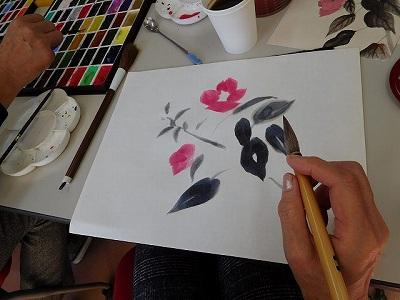 1ヶ月一度の「文人画を描こう」は無心な時間と真逆の笑いコケる時間のギャップが面白い(^^♪