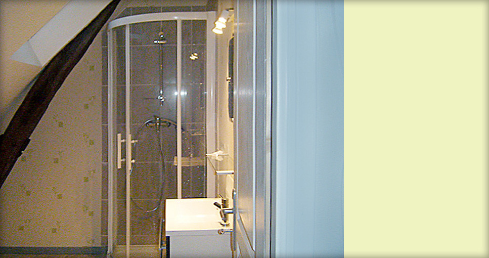Salle d eau dans les combles latest profiter duune salle de bain sous comble spacieuse with - Installer une douche dans une chambre ...