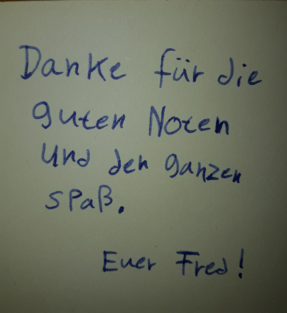 Erfreuliches Feedback eines Schülers im Lernwerk Celle
