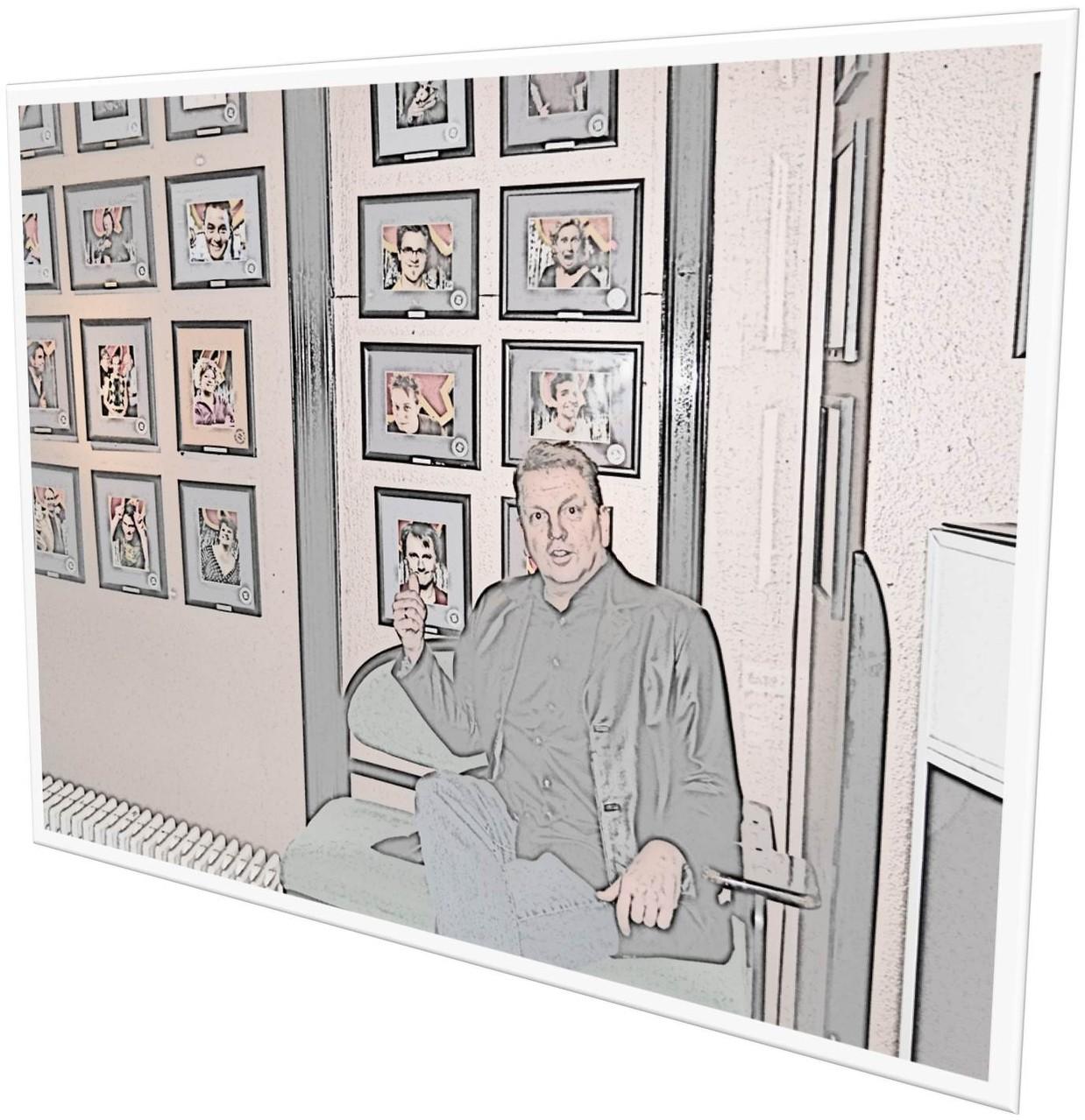 Irgendwann hängt mein Bild auch da - an der Wand.    (c) silvia ricker