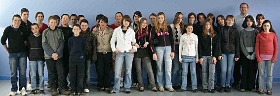 Elèves de Cinquième A - Collège Jean Beaufret d'Auzances 2007-2008