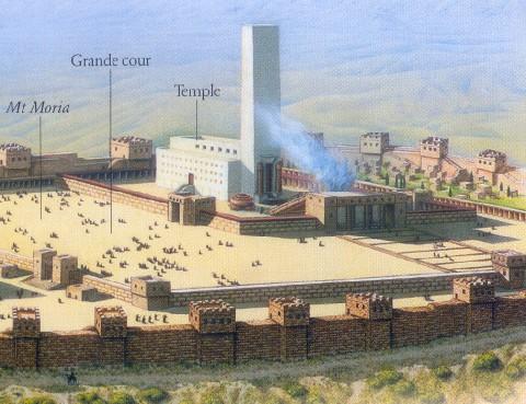 Le temple du roi Salomon, Jérusalem, 10e siècle avant notre ère