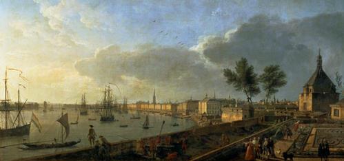 Joseph Vernet, Deuxième vue de Bordeaux, prise du château Trompette, 1759