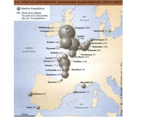 Le trafic des ports négriers européens (1500-1815)