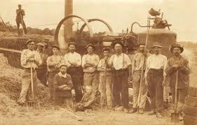 Battage des blés dans les années 20