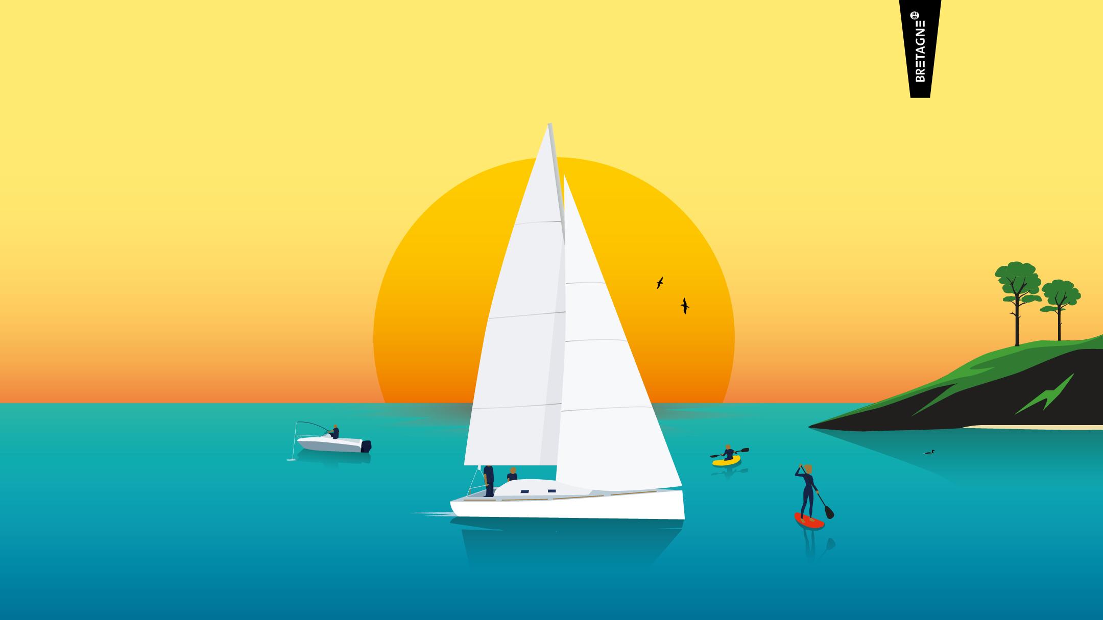 Douarnenez Croisière Voilier Horizons En Finistère Voile Et WeDYb2E9IH