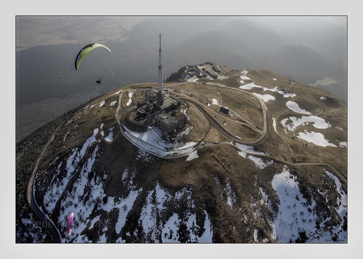 Fin d'hiver au sommet du puy de Dôme