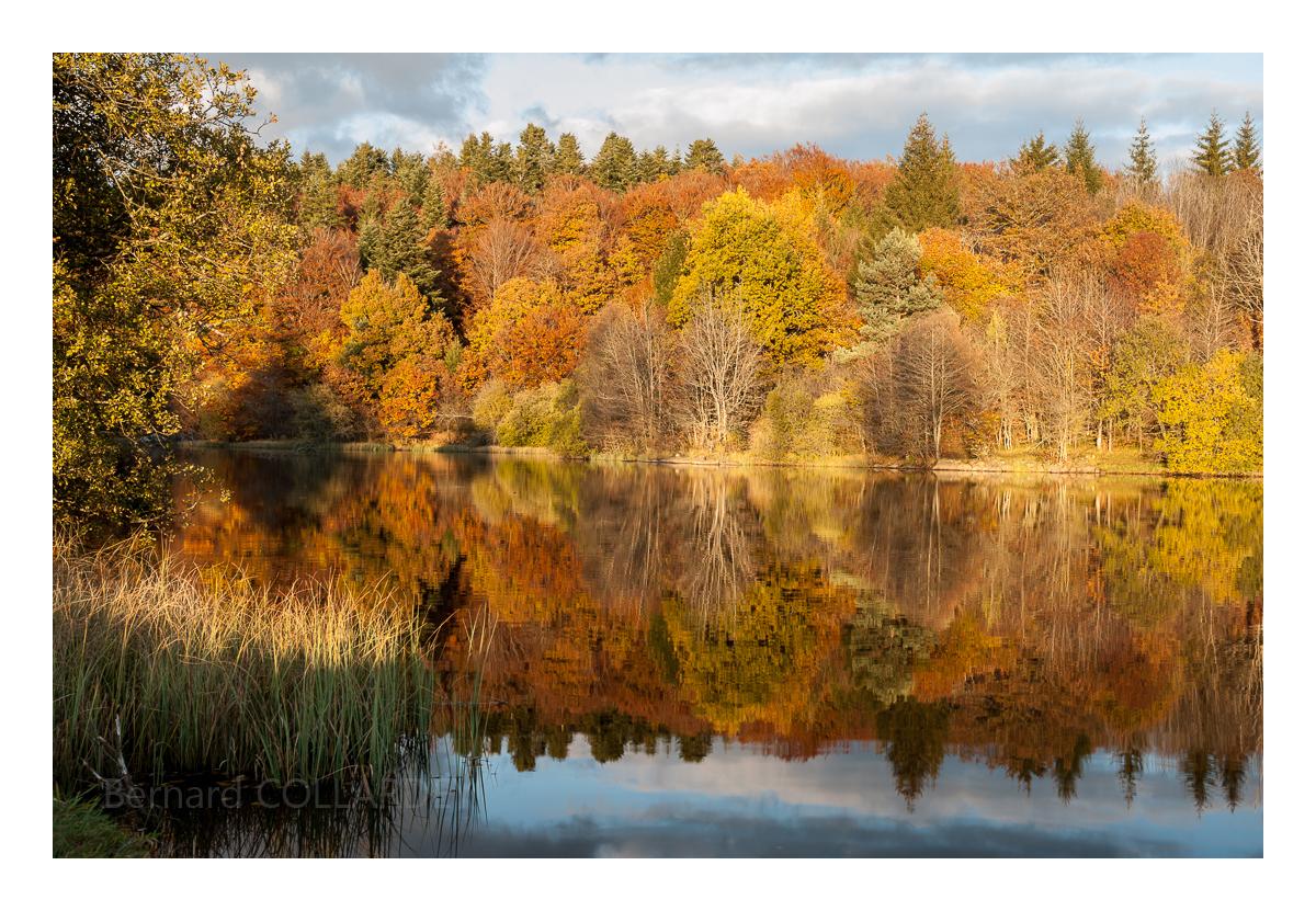 Le lac de la Crégut, couleurs d'automne
