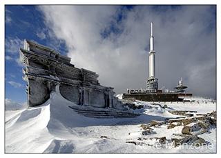 Le temple de mErcure, l'hiver.