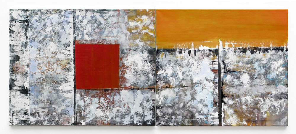 Thomas Jüptner  © untitled (diptych) 2001 80 x 199cm oil / canvas (sold)