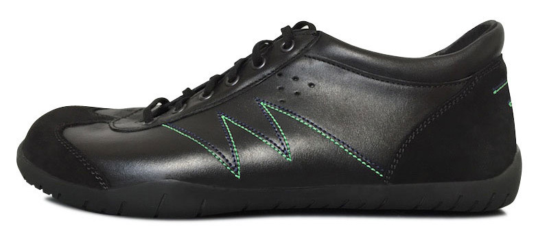 Senmotic running barefoot shoes - Tension F1 Black/Green/Blue