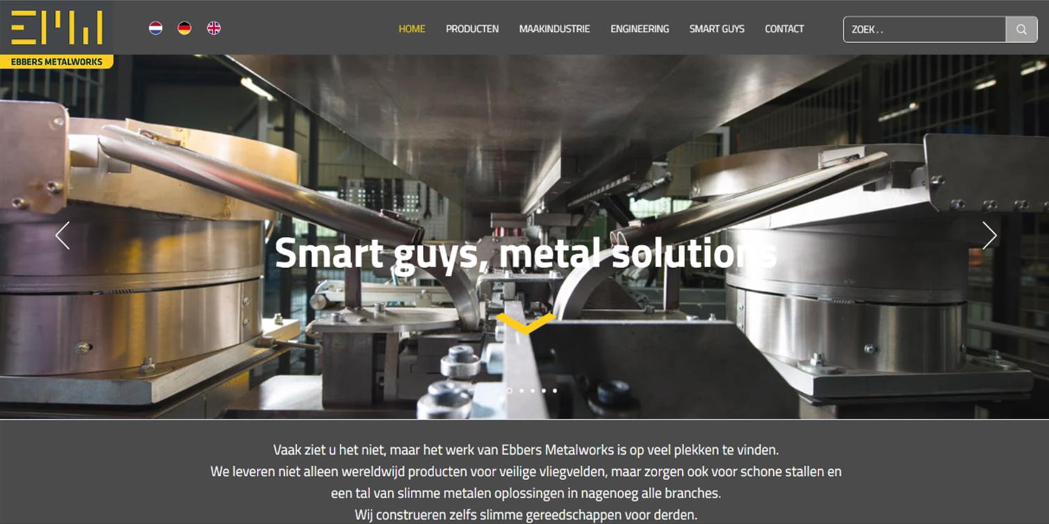 website, logo, huisstijl Ebbers Metalworks