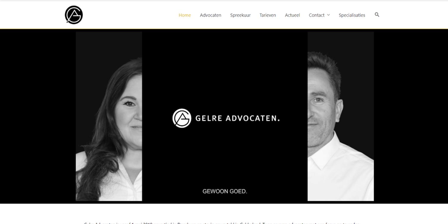 website Gelre advocaten
