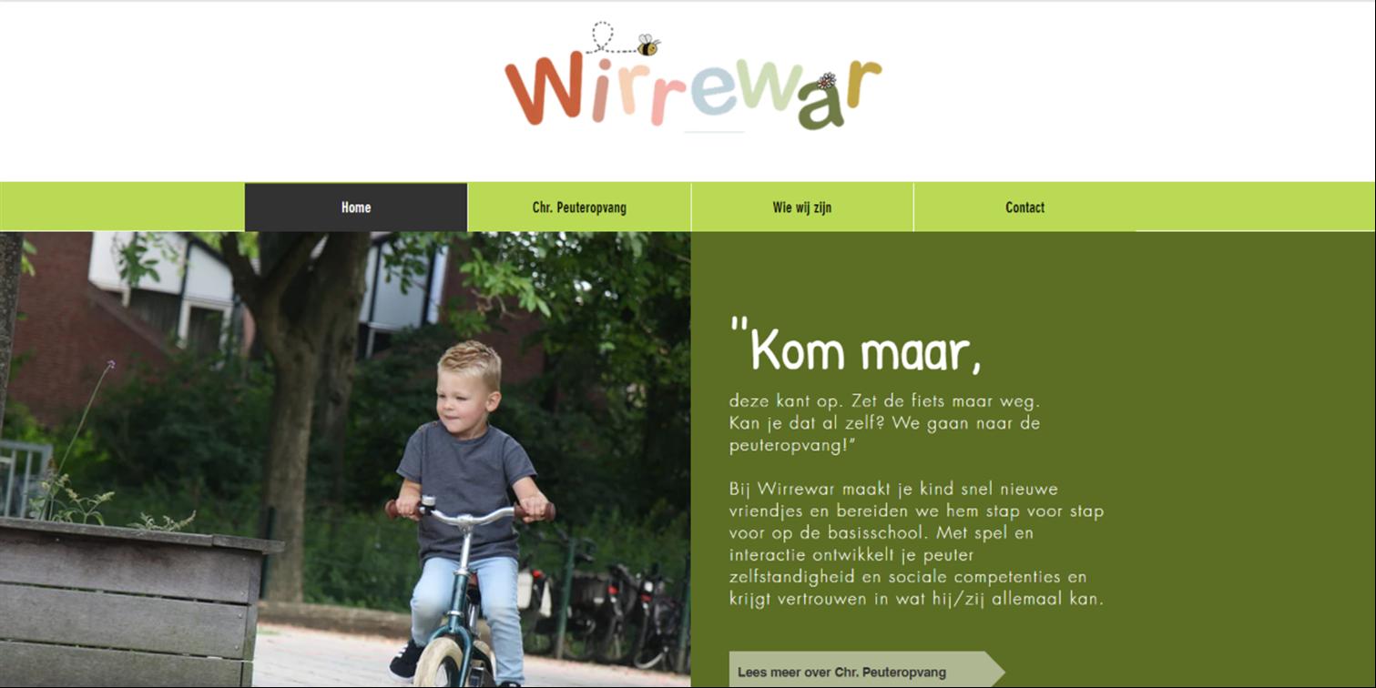 website Wirrewar kinderopvang