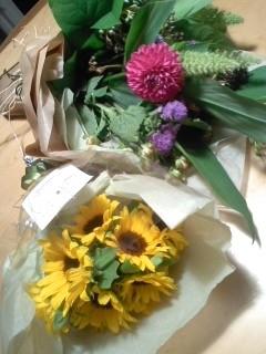 お花、ありがとうございました!!!