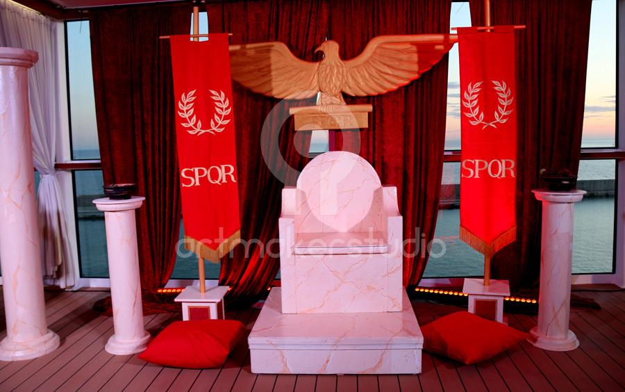 Set Trono Romano SPQR