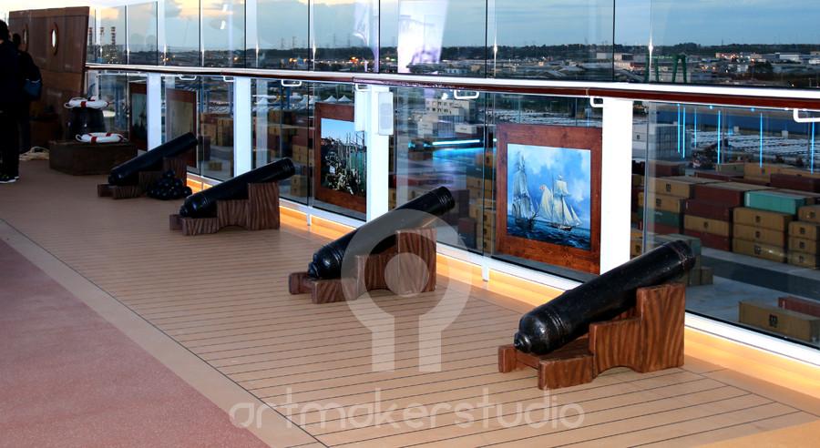 Set de cañones barco