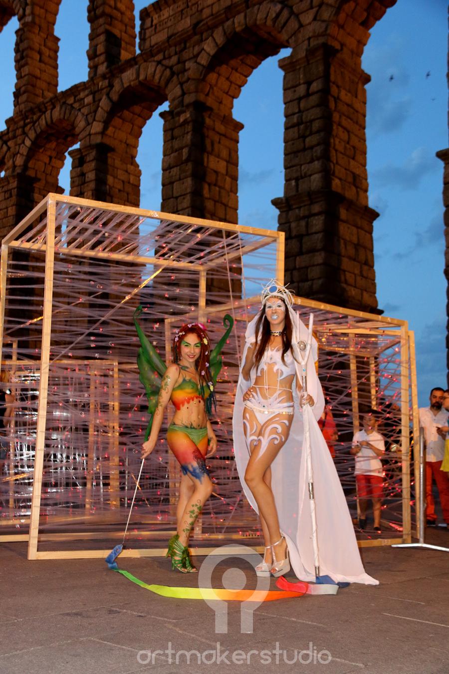 maquillajes corporales de hadas para Evento Luna Llena en Segovia